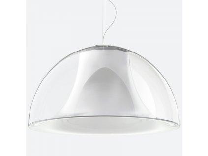 Transparentní závěsné světlo Pedrali L002S/BA 52 cm