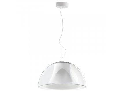 Transparentní závěsné světlo Pedrali L002S/BA 52 cm plast