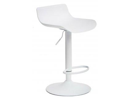 Bílá kovová barová židle Charles 56,5–87,5 cm