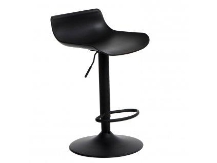 Černá kovová barová židle Charles 56,5–87,5 cm