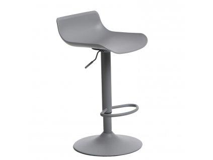 Matně šedá barová židle Charles