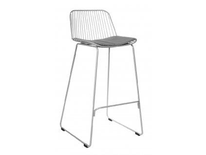 Šedá barová židle Amelia