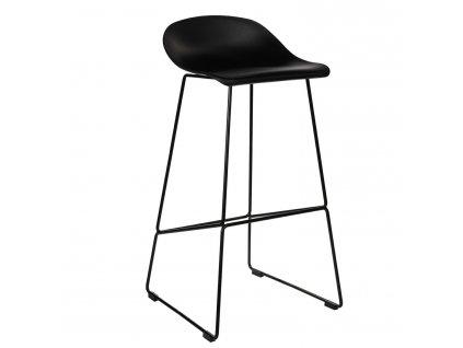 Černá plastová barová židle Kelly 75 cm