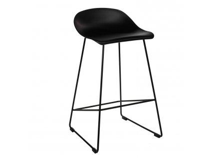 Černá barová židle Kelly 81,5 s kovovou podnoží