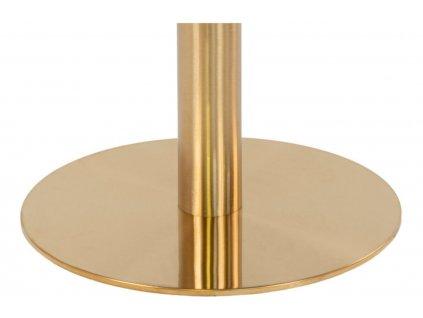 Mramorový kulatý jídelní stůl Nordic Living Ascona 110 cm s kovovou podnoží