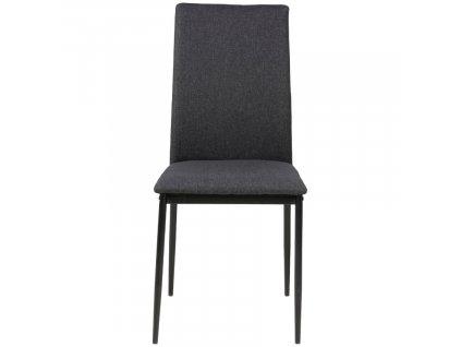 Šedá čalouněná jídelní židle Presley s kovovou podnoží