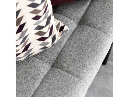 Šedá čalouněná látková lavice Gina 100 cm s kovovou podnoží