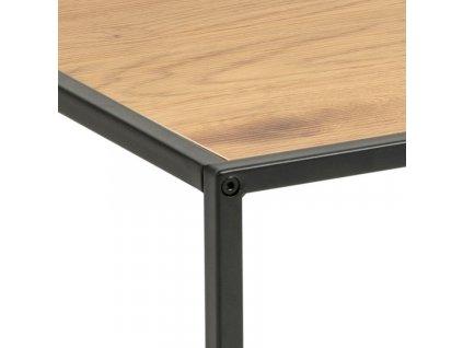 Dubový dřevěný konferenční stolek Darila 60 cm s kovovou podnoží