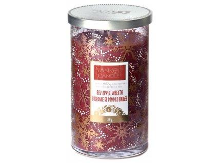 Střední vonná svíčka Yankee Candle Red Apple Wreath Christmas Limited 2019