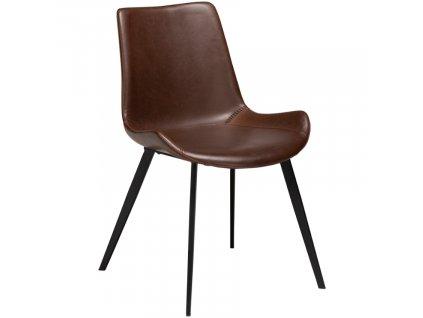 Vintage hnědá čalouněná židle DanForm Hype ekokůže