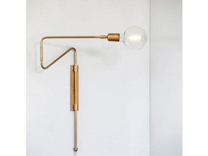 Zlaté kovové mosazné nástěnné světlo Romeo