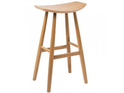 Přírodní dubová barová židle Henry