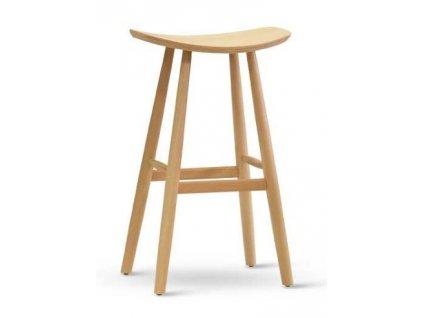 Přírodní buková barová židle Henry