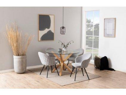 Šedá čalouněná jídelní židle Adriana II.