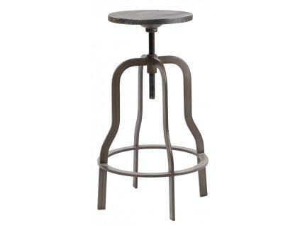 Hnědá dřevěná stolička RGE Vegas s kovovou podnoží