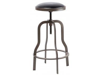 Hnědá čalouněná stolička RGE Vegas s kovovou podnoží