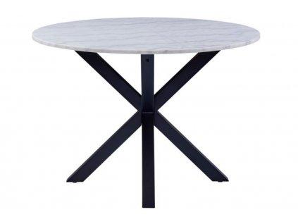 Bílý mramorový jídelní stůl Cody 110 cm