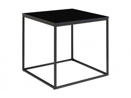 Černý kovový konferenční stolek Winter 45 x 45 cm