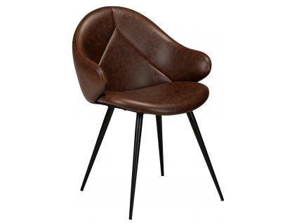 Hnědá čalouněná jídelní židle DanForm Manta