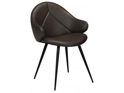 Tmavě šedá čalouněná jídelní židle DanForm Manta