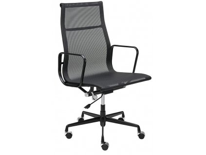 Černá čalouněná kancelářská židle Aero II. na kolečkách