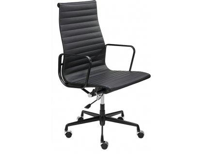 Černá čalouněná kancelářská židle Aero na kolečkách