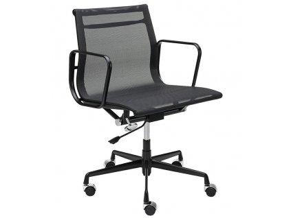 Černá látková konferenční židle Soft Pad II.
