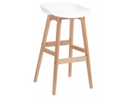 Dřevěná barová židle Bailey s plastovým sedákem
