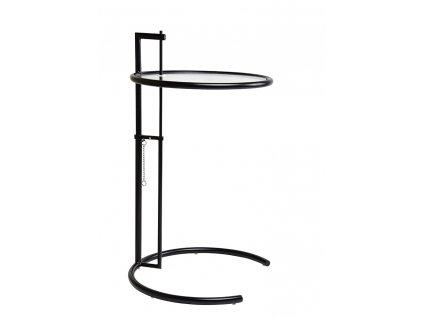 Černý kovový odkládací stolek Sakira 58 cm