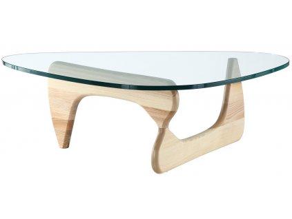 Skleněný konferenční stolek Milano 126 x 90 cm