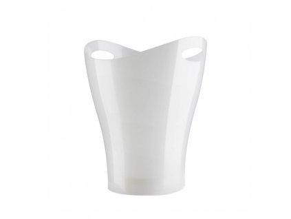 Bílý plastový koš na odpadky Garb