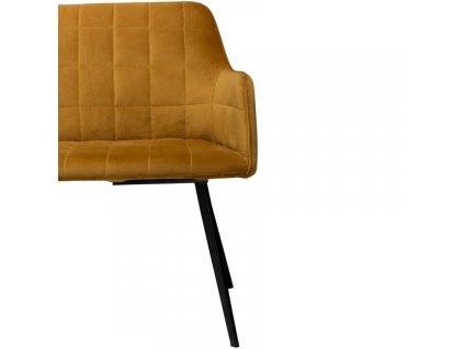 Hořčicová sametová lavice Dan-Form Embrace