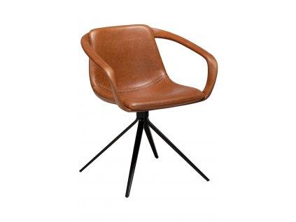 Koňaková koženková jídelní židle DanForm Jomo