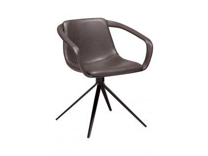 Šedá koženková jídelní židle DanForm Jomo