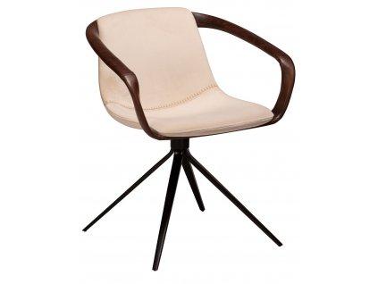 Perlová koženkové jídelní židle DanForm Jomo