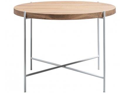Kulatý dřevěný konferenční stolek Formwood Leila s kovovou podnoží