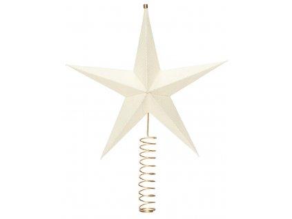 Bílá papírová vánoční hvězda