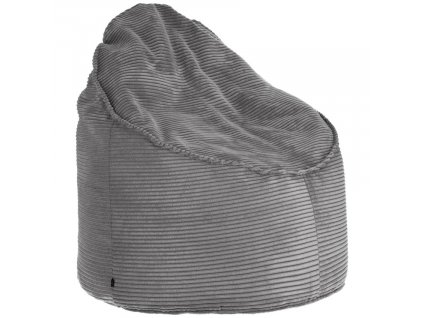 Šedý manšestrový sedací vak LaForma Bimba 80 cm