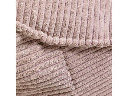 Růžový manšestrový sedací vak LaForma Bimba 80 cm