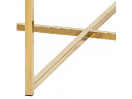 Hnědý mramorový konferenční stolek Venice 80 cm se zlatě lakovanou kovovou podnoží