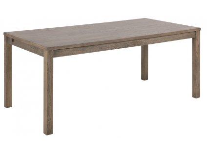 Tmavě hnědý dubový rozkládací jídelní stůl Urien