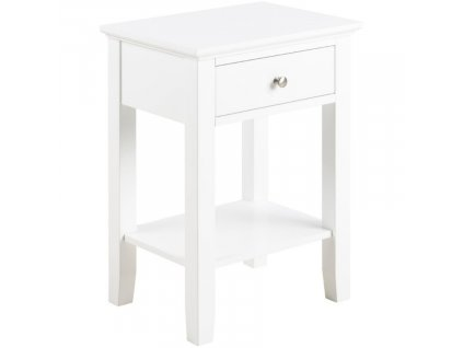 Bílý noční stolek Chamber