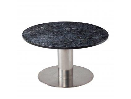 Černý mramorový konferenční stolek RGE Pepo s kartáčovanou podnoží