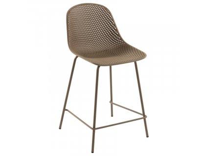 Béžová plastová barová židle LaForma Quinby 65 cm