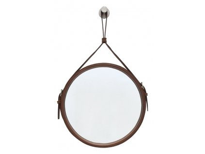 Hnědé kulaté zrcadlo RGE Elvis Ø 50 cm