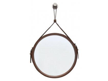 Hnědé kulaté zrcadlo RGE Elvis Ø 60 cm
