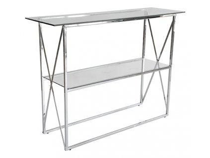 Stříbrný skleněný toaletní stolek Cross