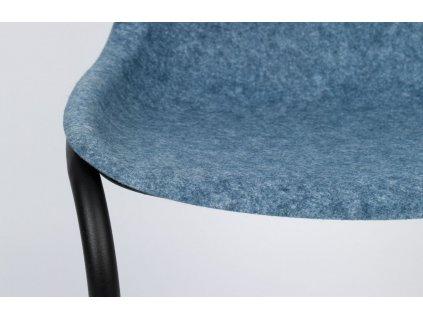 Modrá plastová jídelní židle ZUIVER THIRSTY