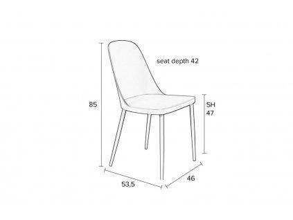 Mintově zelená plastová jídelní židle WLL Pip