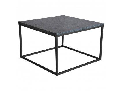 Černý žulový konferenční stolek RGE Accent s černou podnoží 75 cm 1000x1000